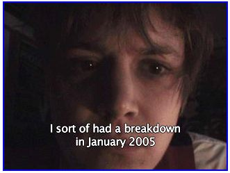 Screenshot of the first screen of Justin Hall's breakdown video, published January 2004