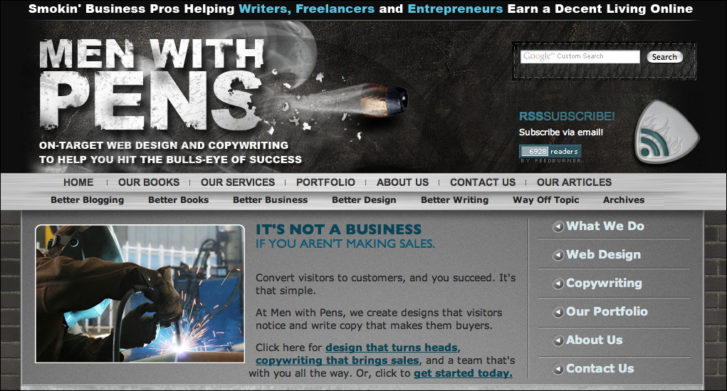 screenshot of menwithpens.ca