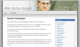 screenshot of Carl Bildt's blog