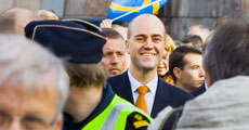 Official Swedish government photo of Prime Minister Fredrik Reinfeldt