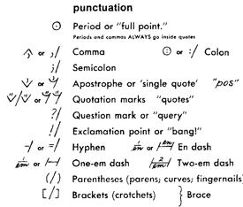 Copyediting marks