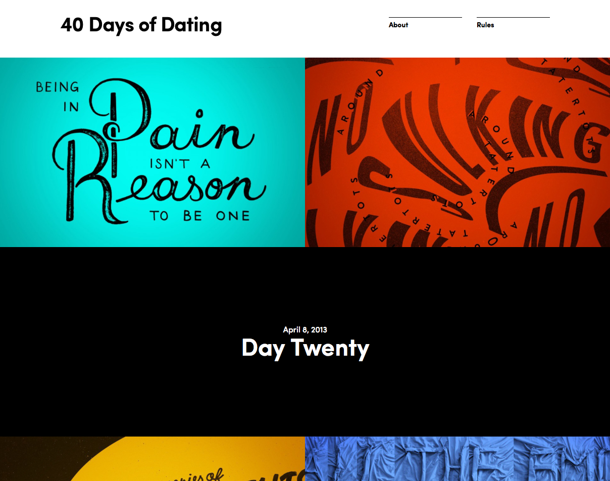 dating for 40 days blog '40 days of dating' teaches nothing about relationships and everything about hipster new york so compelling that the blog started to go viral.
