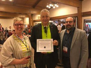 John Lovas Award -congrats from Kairos