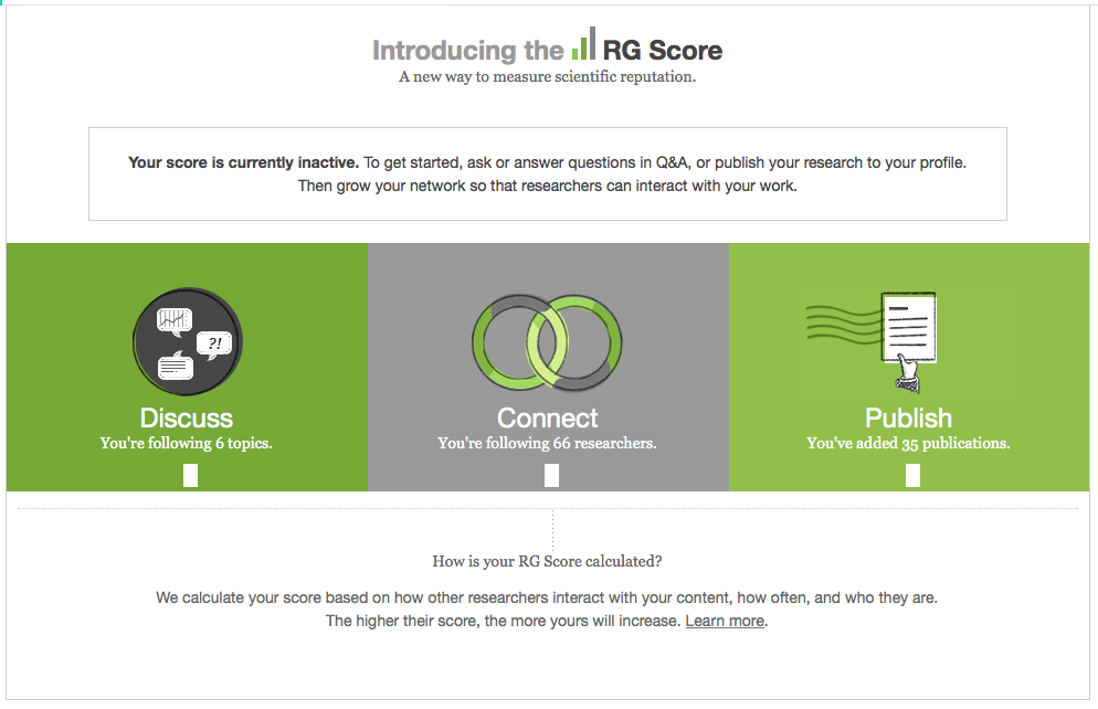 ResearchGate-RG-Score