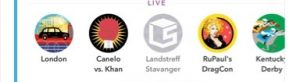 Snapchat Live Stories as seen in London on Sunday, 8 May 2016.
