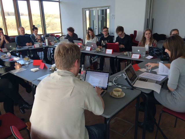 Discussing intimate surveillance at the Tracking Culture workshop in Aarhus.
